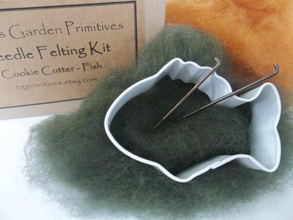 Needle Felting Kit - Fish - Cookie Cutter Kit - Easy
