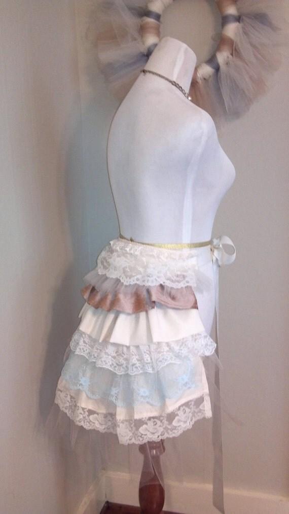 Vintage Lace Bustle...Victorian, Lolita, Steampunk accessory