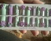 3D Vintage Rose Fake Nail Set- on sale until Jan 26