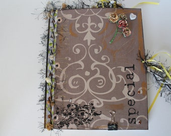 Altered Notebook, Altered Memory Book, Diary, Journal, Scrapbook, Special Notebook, Poetry Book, One of a Kind