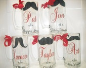 7 mugs. Personalized beer mugs. Great groomsmen gifts.