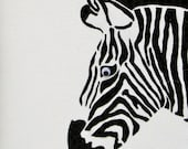 Black and White Beauty - Original Handmade Acrylic Paint and Paper Painting on Canvas