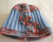 Hand knitted Baby Hat With Flower Design