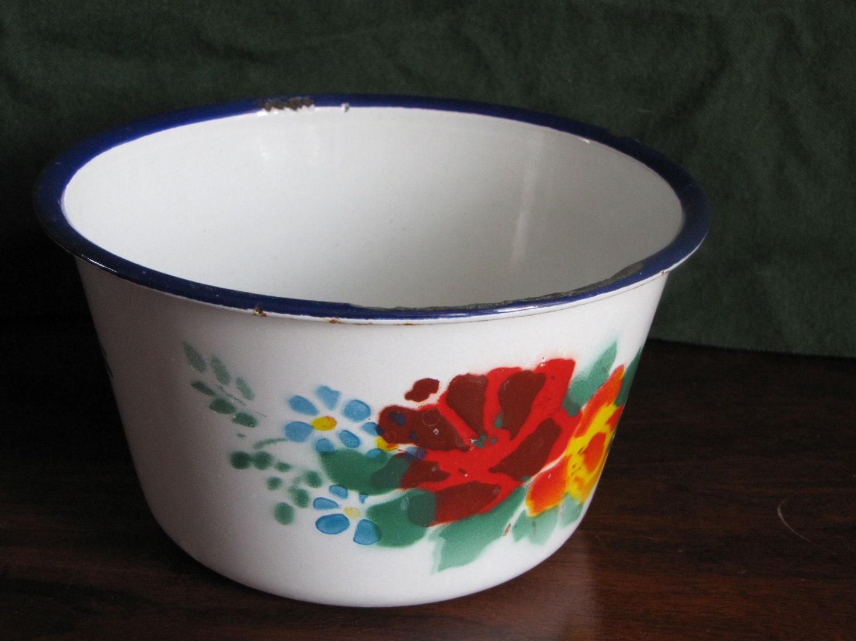 Vintage Enamel Bowl Bumper Harvest Enamelware