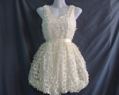 Unique Ribbon White Dress - Little Party Dress- Teen Girls Clothing- Sexy Cocktail Dress