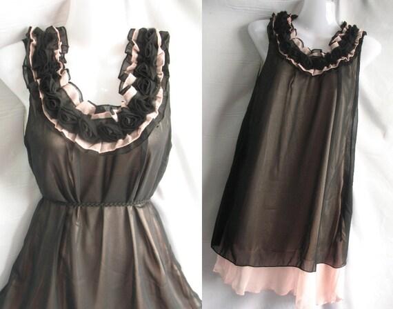 70% SALES Soft Ruffled Cocktail Dress - Sweet Heart Chiffon Party Dress - Little Black Dress