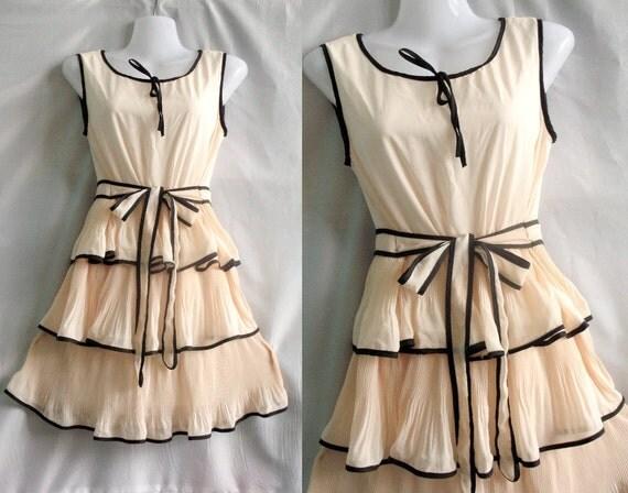 Soft Layers Cocktail Dress - Sweet Heart Chiffon Dress - Romance Night Short Dress
