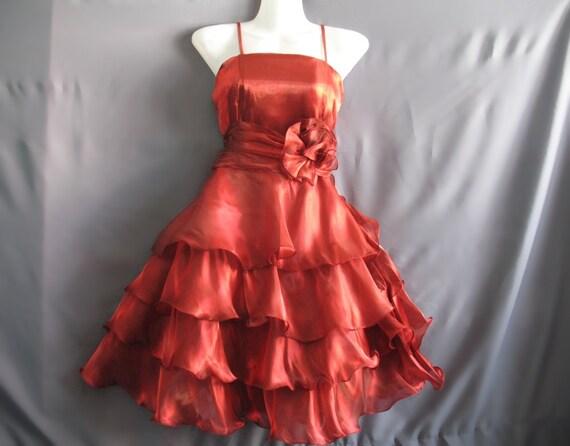 Soft Layers Cocktail Dress - Sweet Heart Hot Red Chiffon Dress - Romance Night Short Dress