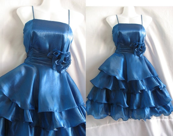 Sexy Blue Cocktail Dress - Sweet Heart Party Dress - Romance Night Girl Short Dress