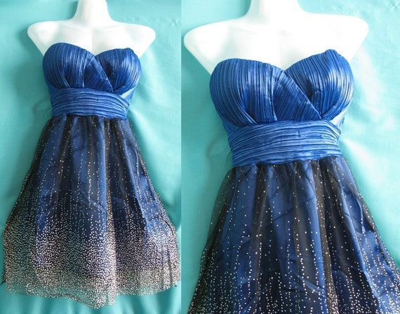 Sexy Blue Party Dress - Forever Love Cocktail Romance Girl Bridesmaid Dress- Birthday Gifts