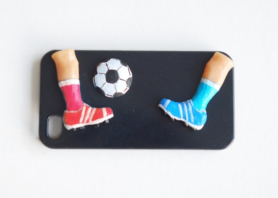 Football sneakers hard case .iPhone 4  hard case .Unusual phone case. Active summer sport for him . phone cases men