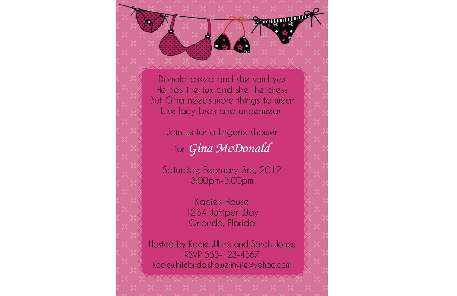 Bridal Lingerie Shower Invitations is best invitation example