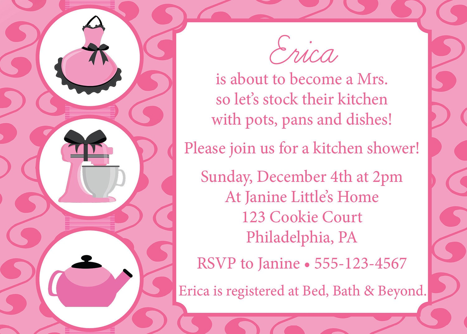 Wedding Shower Invite is perfect invitation layout