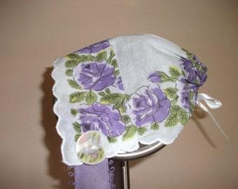 Pretty Purple Baby Bonnet
