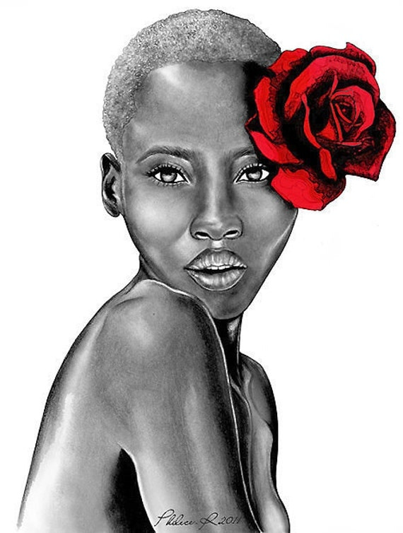 Uzuri Red - Large Art Print - The Beauty Collection