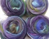 100g Textured Art Yarn Batts, Gothic Garden