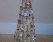 Oh Christmas Tree- decorated wine cork christmas tree