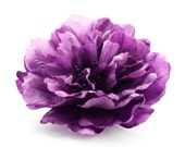 Purple wedding. Purple wedding hair clip. Big bridal flower accessory, Purple peony, Silk flower hair clip, Violet wedding hair clip.