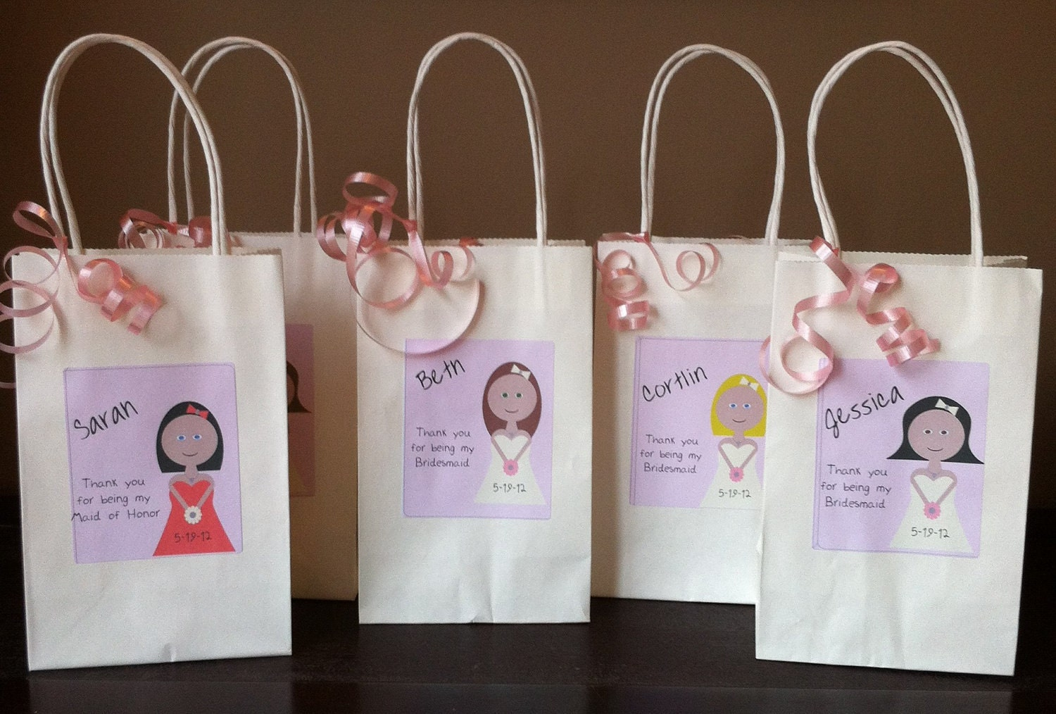 Personalised Wedding Gift Cheap : bridesmaid gift bag personalized gift bridal party gift