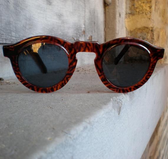 RESERVED for helloemmalewis Vintage Tortoiseshell Sunglasses - 70s Keyhole Shades, 30s Throwback