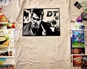 blade runner shirt - dark tourist // REPLICANT NIGHTS t shirt on nla light gray // MEDIUM - Also available in l / xl