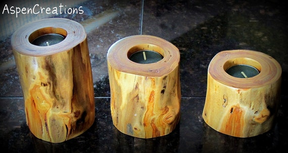 Aspen Wood Candles, Stackable