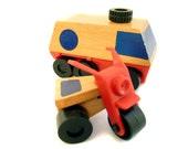 Wooden Toy Van & Tricycle Mattel Preschool 1970s