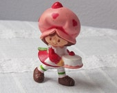 Strawberry Shortcake with Cake Vintage Figurine