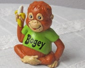 "Rare ""Bogey"" Orangutan Shirt Tales Vintage Figurine"