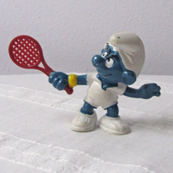 Tennis Star Smurf with Red Racket