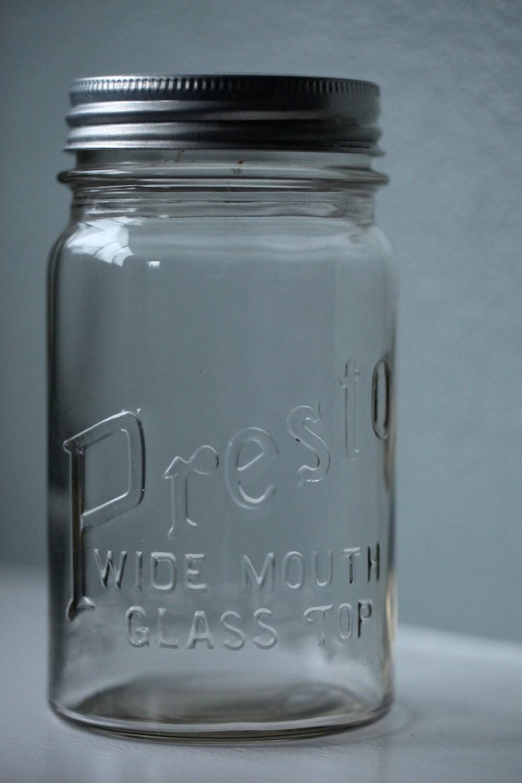 presto wide mouth glass top jar. Black Bedroom Furniture Sets. Home Design Ideas
