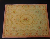 Dollhouse Miniature Area Carpet, Beautiful Antique Aubusson, One Inch Scale