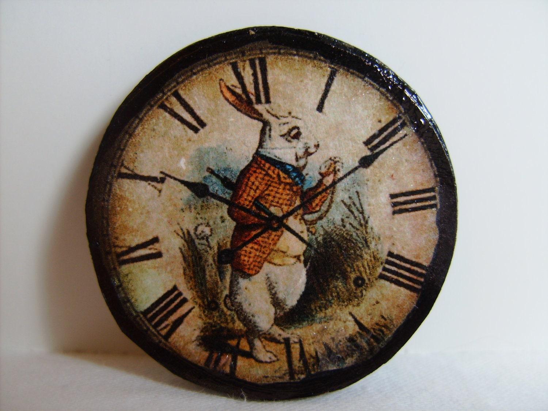Alice In Wonderland Clock Miniature wall clock alice's