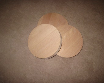 "20 Cherry Discs for Crafts, Woodworking, Furniture Building - 5"" Diameter 3/4"" Thick"