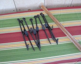 Set of Eight Vintage Navy Fishing Harpoons - WWII Military Collectible