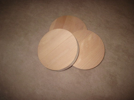 """26 Cherry Discs for Crafts, Woodworking, Furnituremaking, etc. - 4"""" Diameter 3/4"""" Thick (various sizes available)"""