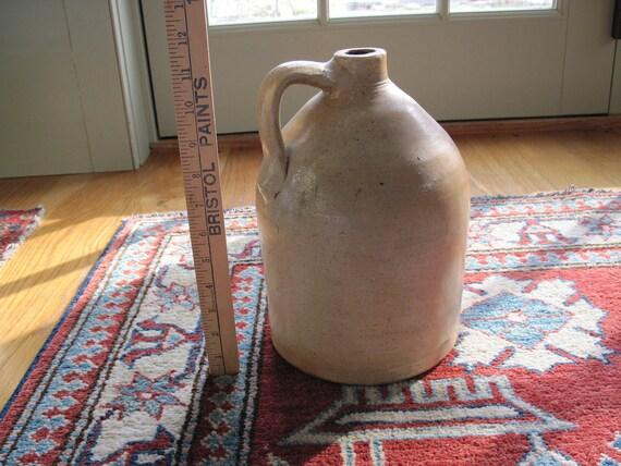 Vintage Ceramic Whiskey Jug - Salt Glazed - Very Good Condition