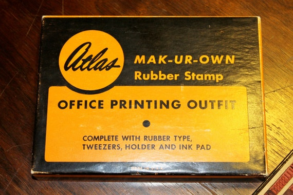 Atlas Make-UR-Own Rubber Stamp