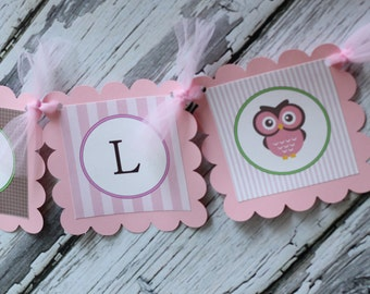 It's a Girl Owl PARTY PACKAGE - Pink