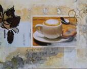 ORIGINAL COLLAGE // art // Mixed media // original art // fine art // Cafe Ole