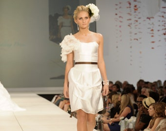 designer dress, sample sale designer dress, custom-made dress, graduation dress