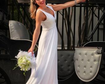Charleston wedding/graduation dress, designer wedding/graduation dress, sample sale, custom made wedding/graduation gown