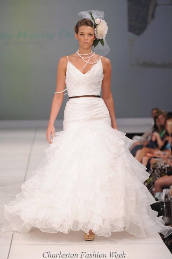 Items similar to charleston wedding dress designer for Designer sample wedding dresses