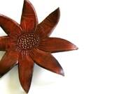 Brooch Leather Flannel Flower Australia