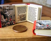 The wild swans, miniature book for dollhouse