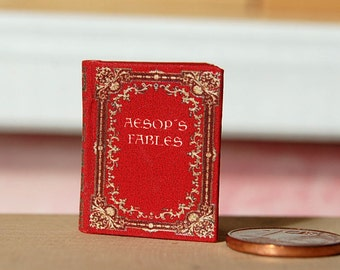 Miniature book, AESOPs Fables 1:12 Scale