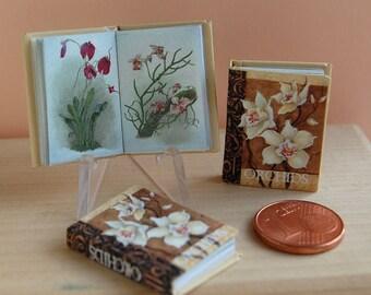 1/12 Miniature book,  Orchids