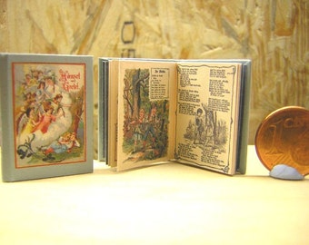 Hansel and Gretel fairy tale Miniature Book 1:12