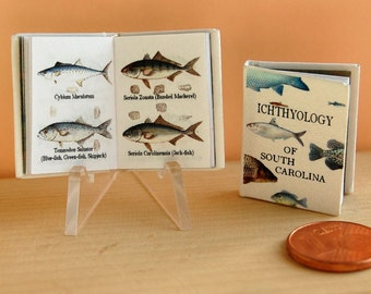 Ichthyology of South Carolina, miniature book for dollhouse