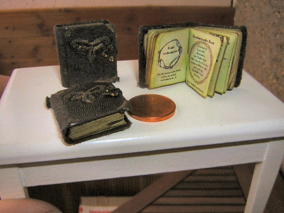 1/12 Miniature book, very old witches book